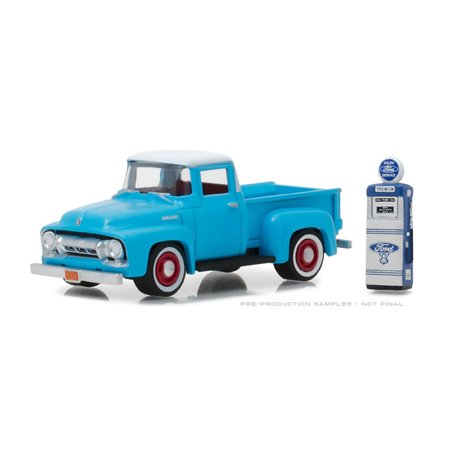 Vintage Iii Series - GREENLIGHT 1:64 THE HOBBY SHOP SERIES 3 - 1954 FORD F-100 WITH VINTAGE GAS PUMP 97030-A