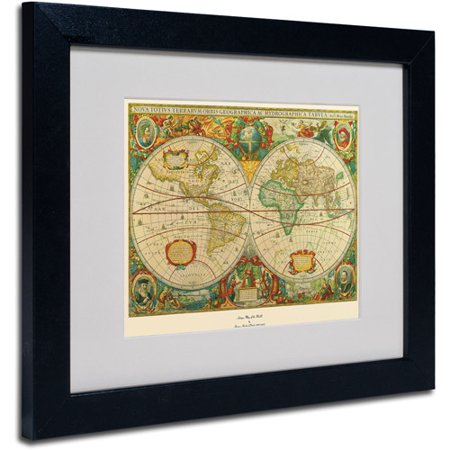 Trademark Fine Art 'Old World Map Painting' Matted Framed Art