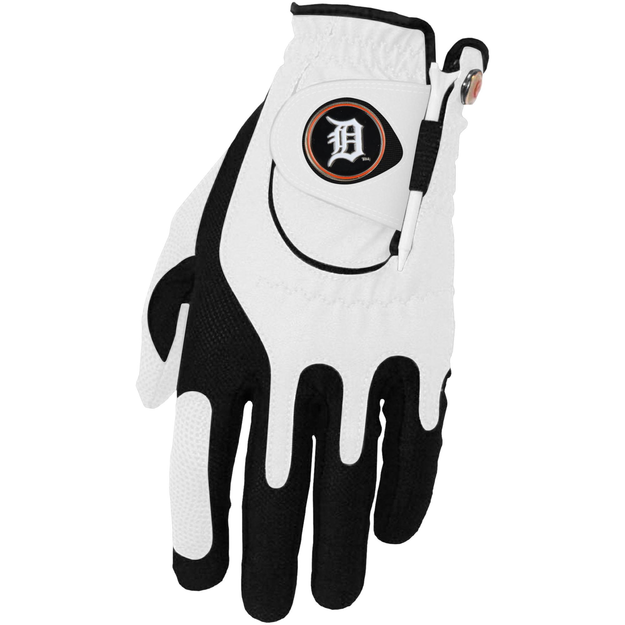 Detroit Tigers Left Hand Golf Glove & Ball Marker Set - White - OSFM