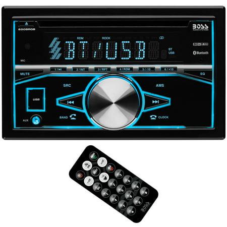 Boss Audio Systems 850BRGB Double DIN Bluetooth CD Player & Radio Car Stereo Panavise Car Audio