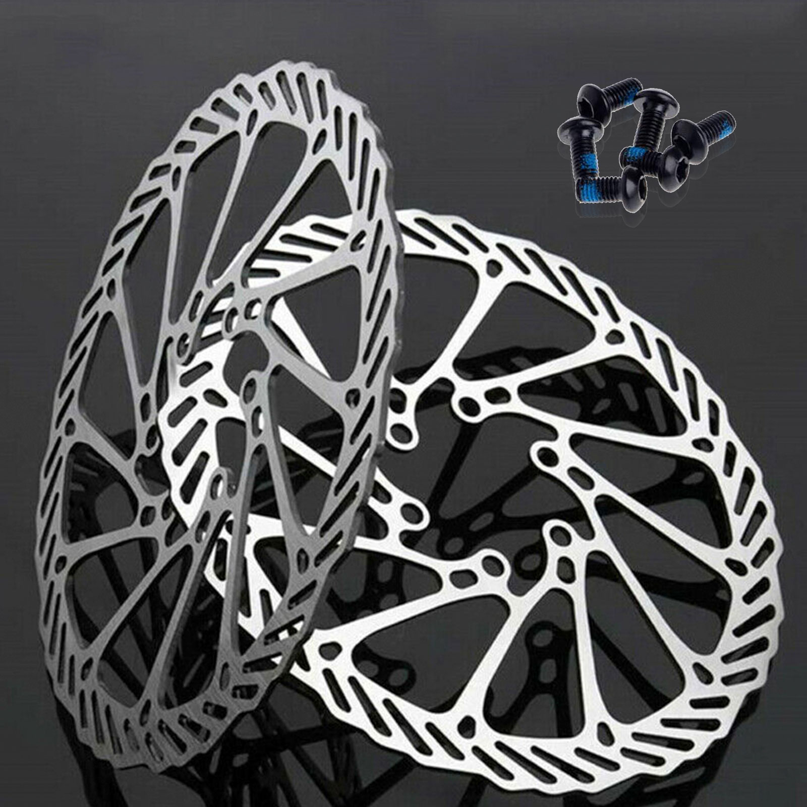 Bicycle Disc Brake Rotor 160//180MM with 6 Bolts for Mountain Road Bike MTB