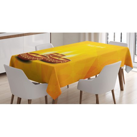 Diwali Decor Tablecloth Geometric Cut Backdrop Image With Religious Sacred Day Burning Candles Art
