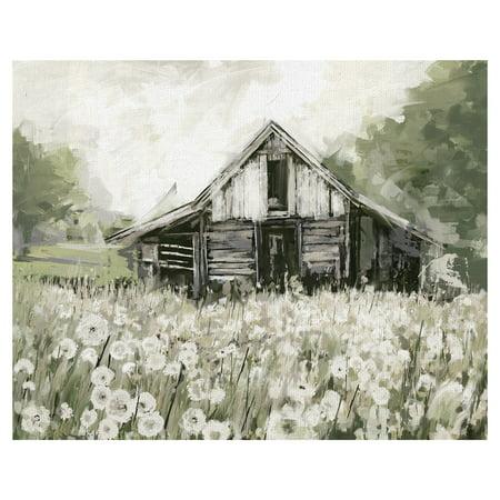 Masterpiece Art Gallery Dandelion Barn By Studio Arts Canvas Art Print 22