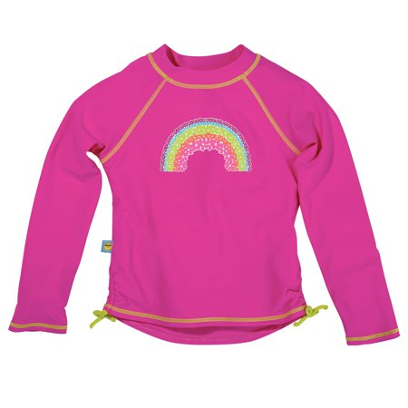 Sun Smarties Baby and Toddler Girl Rashguards - Hot Pink - Long Sleeve Love Long Sleeve Rash Guard