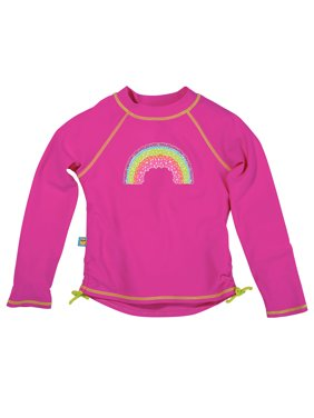 Sun Smarties Baby and Toddler Girl Rashguards - Hot Pink - Long Sleeve