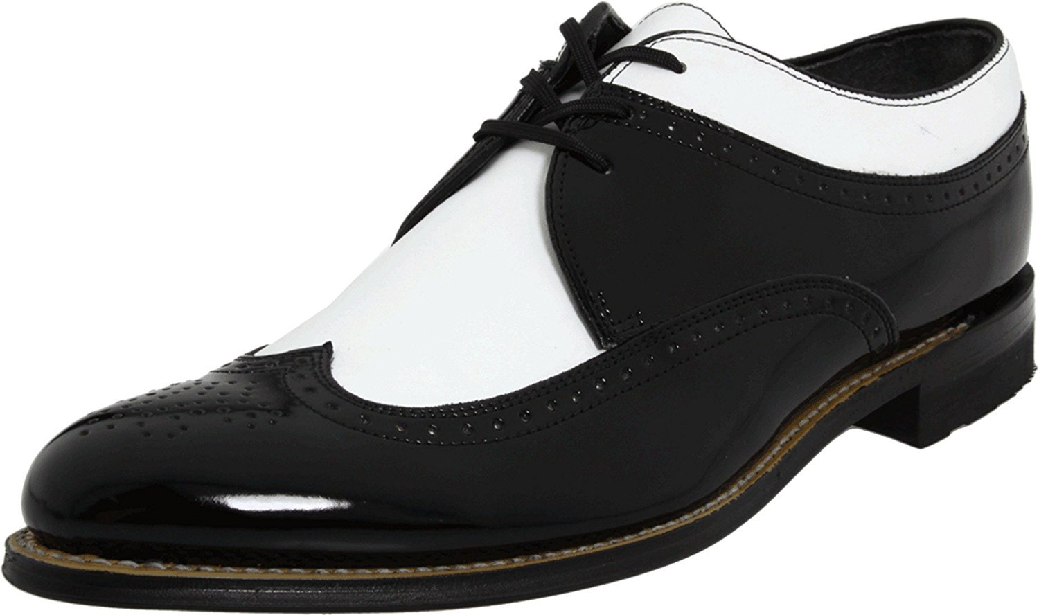 Stacy Adams DAYTON Mens Black White Wing Tip Oxford Dress Shoes by Stacy Adams
