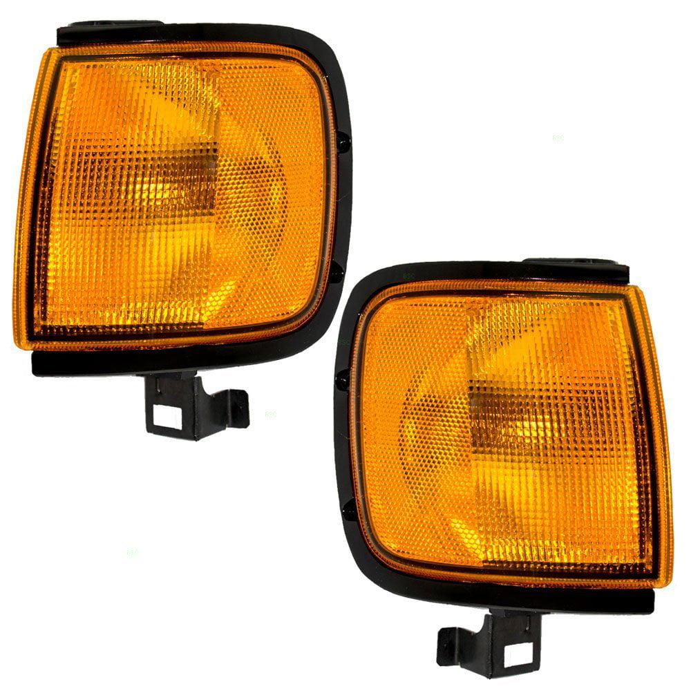 Pair Set Park Signal Corner Marker Lights Lamps