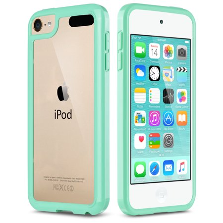 iPod Touch 6th Generation Case,iPod Touch 7 Case, iPod 5 Case, ULAK Clear Hybrid Flexible Soft TPU Case Shock Absorbing Hard Plastic Cover for iPod Touch 6, 5th & 7th Generation (Ipod 5 Color Gray Case)