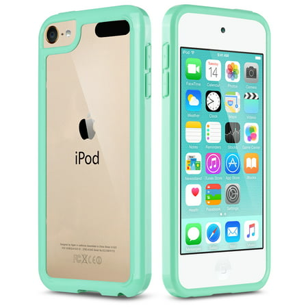 iPod Touch 6th Generation Case,iPod Touch 7 Case, iPod 5 Case, ULAK Clear Hybrid Flexible Soft TPU Case Shock Absorbing Hard Plastic Cover for iPod Touch 6, 5th & 7th Generation ()