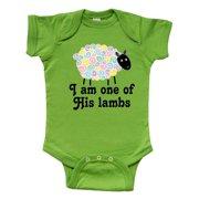 Inktastic Religious Lamb Christian Childs Gift Infant Short Sleeve Bodysuit Unisex Apple Green 6 Months