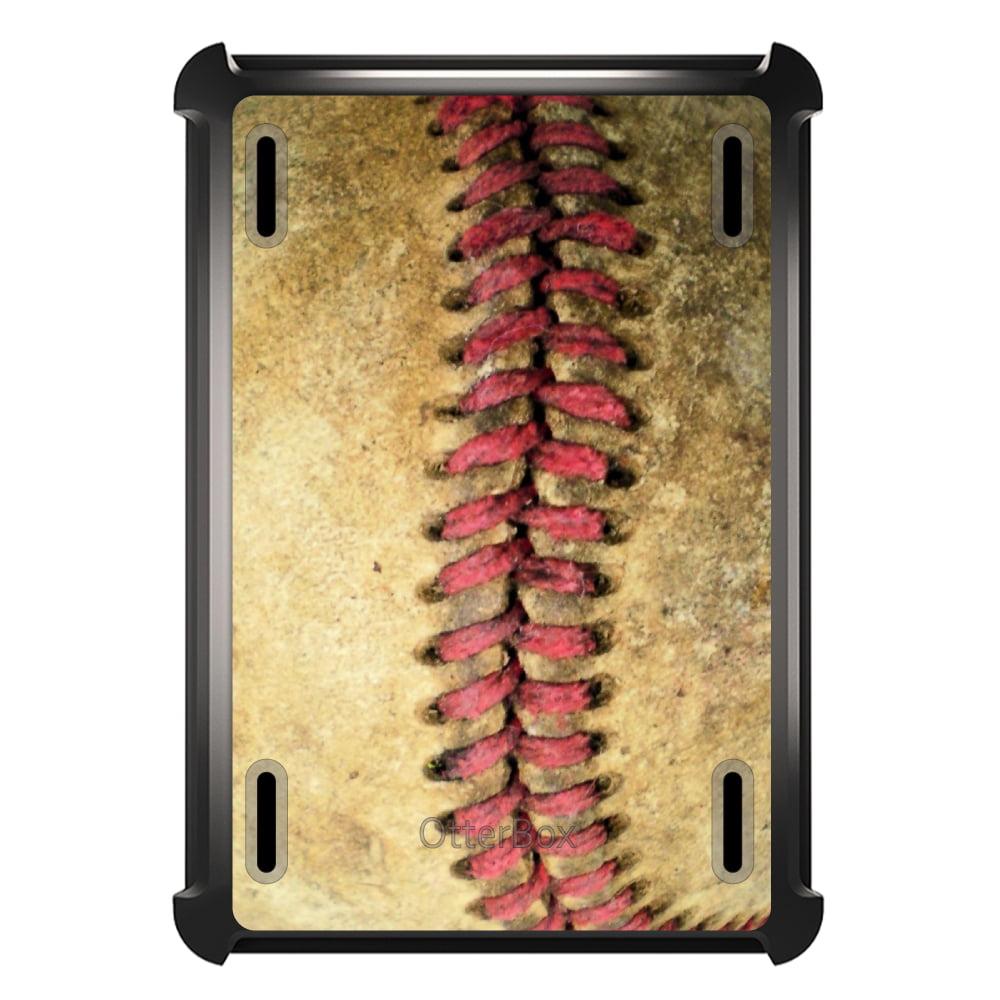 CUSTOM Black OtterBox Defender Series Case for Apple iPad Mini 4 - Old Baseball Stitch
