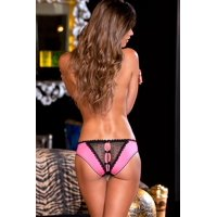 Rene Rofe Womens Prima Vera Crotchless Frills Panty With Back Bows