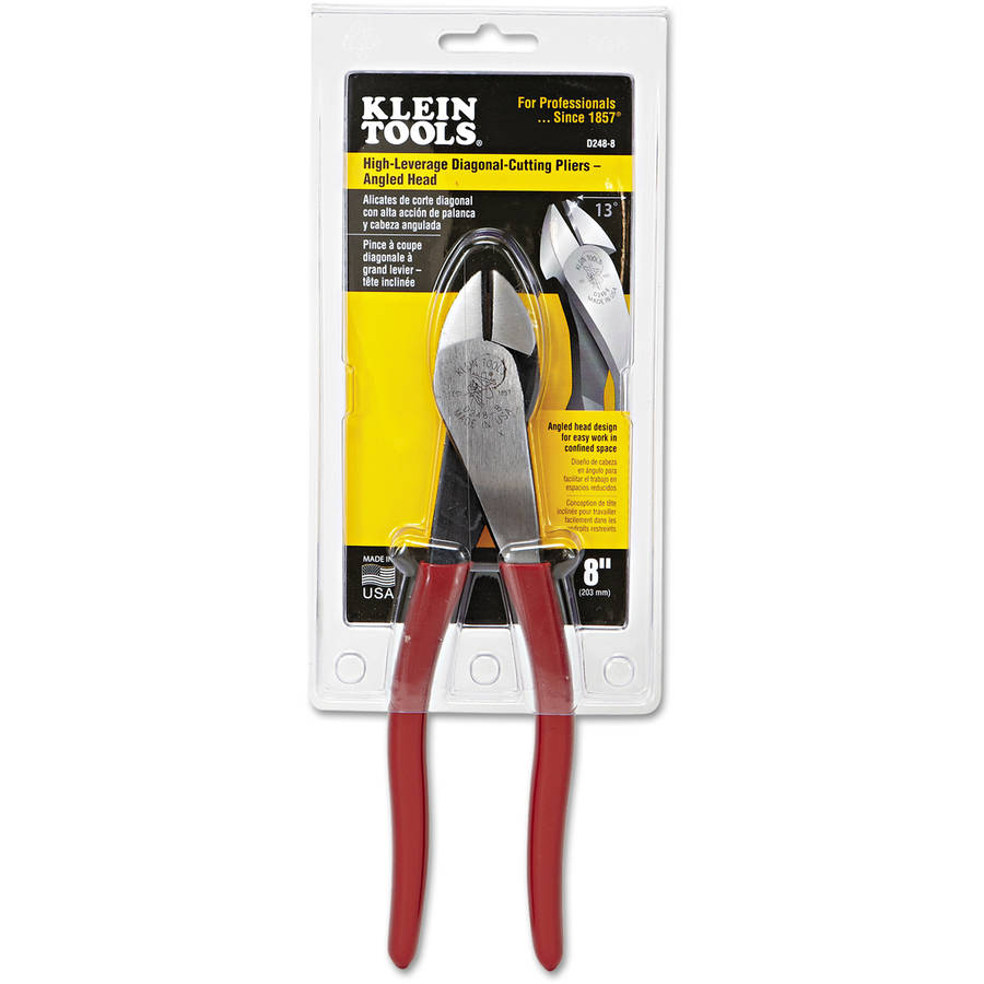 "Klein Tools High-Leverage Ironworker's Pliers, 9 1/4"" Tool Length, 25/32"" Cut Length"