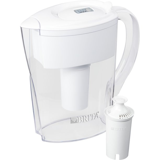 Brita Space Saver Water Filter Pitcher, 6 Cup - White