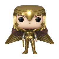 Funko POP! Heroes: Wonder Woman 1984 - Wonder Woman Gold Wide Wing (Metallic) - Walmart Exclusive