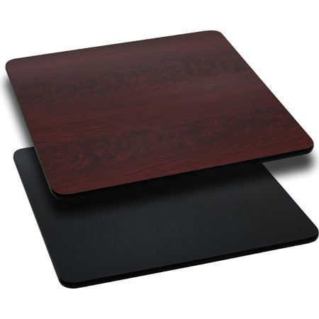 "Flash Furniture 24"" Square Table Top with Reversible Laminate Top, Multiple Colors"