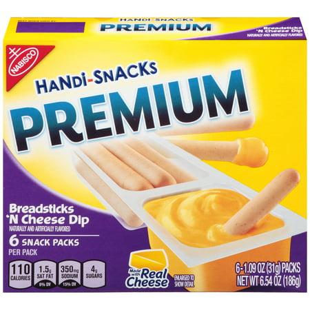 Nabisco Handi-Snacks Premium Breadsticks 'N Cheesy Dip Snack Packs, 1.09 Oz., 6