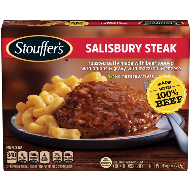 STOUFFER'S Salisbury Steak, Frozen Meal