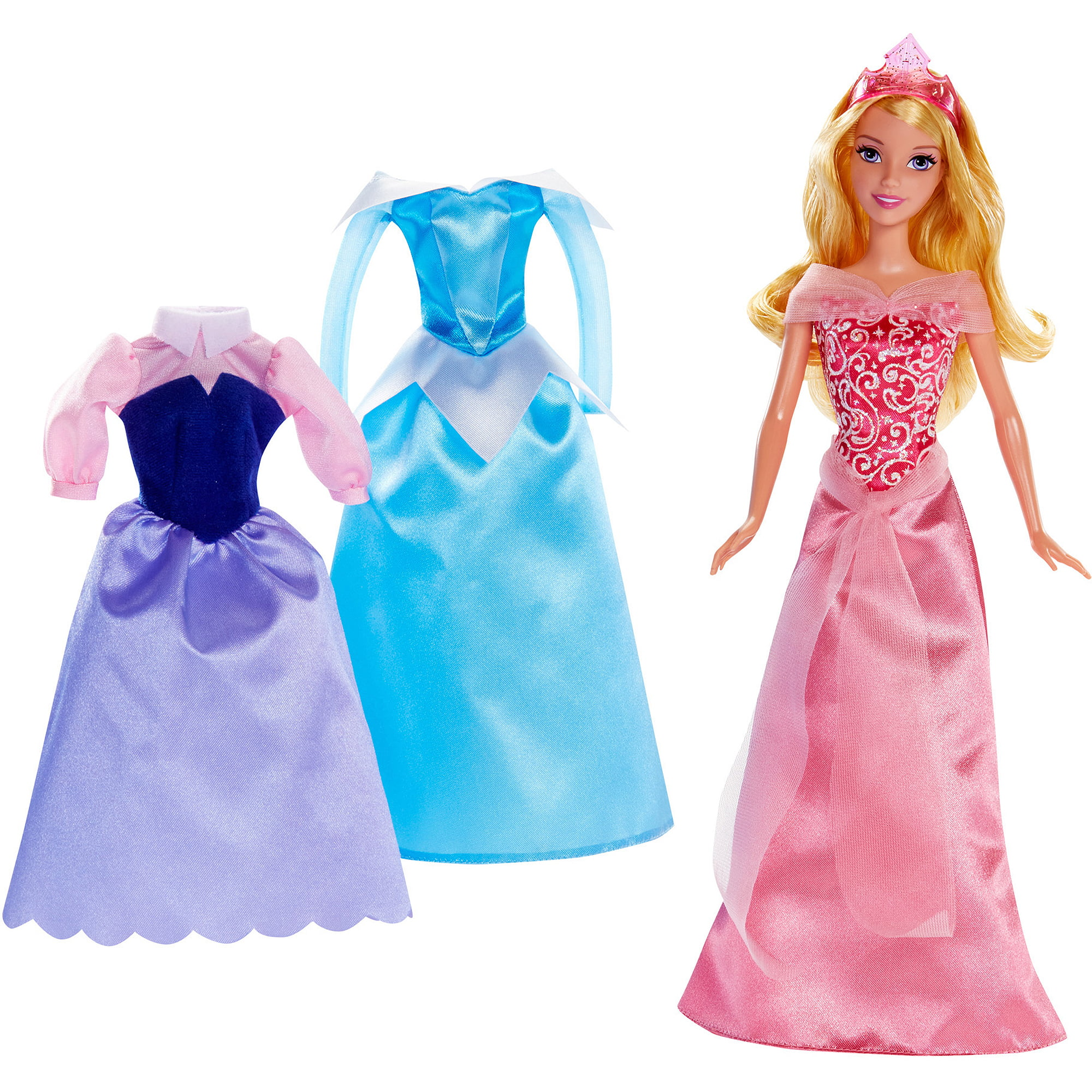 "Disney Princess Rags To Riches 12 piece 12"" Doll and Dress Set ly"