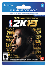 NBA 2K19: 20th Anniversary Edition, 2K, Playstation 4, [Digital
