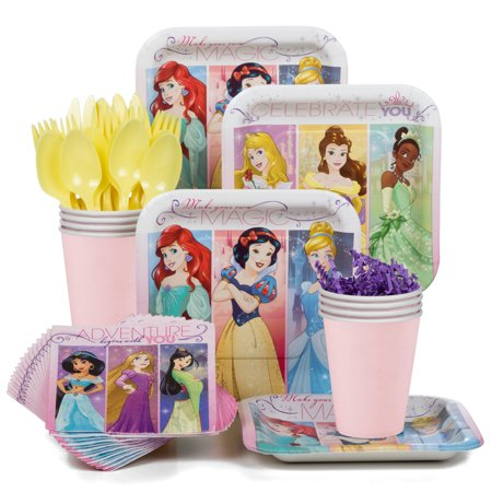 Disney Princess Standard Kit (Serves 8) - Party Supplies - Disney Princess Party Decor