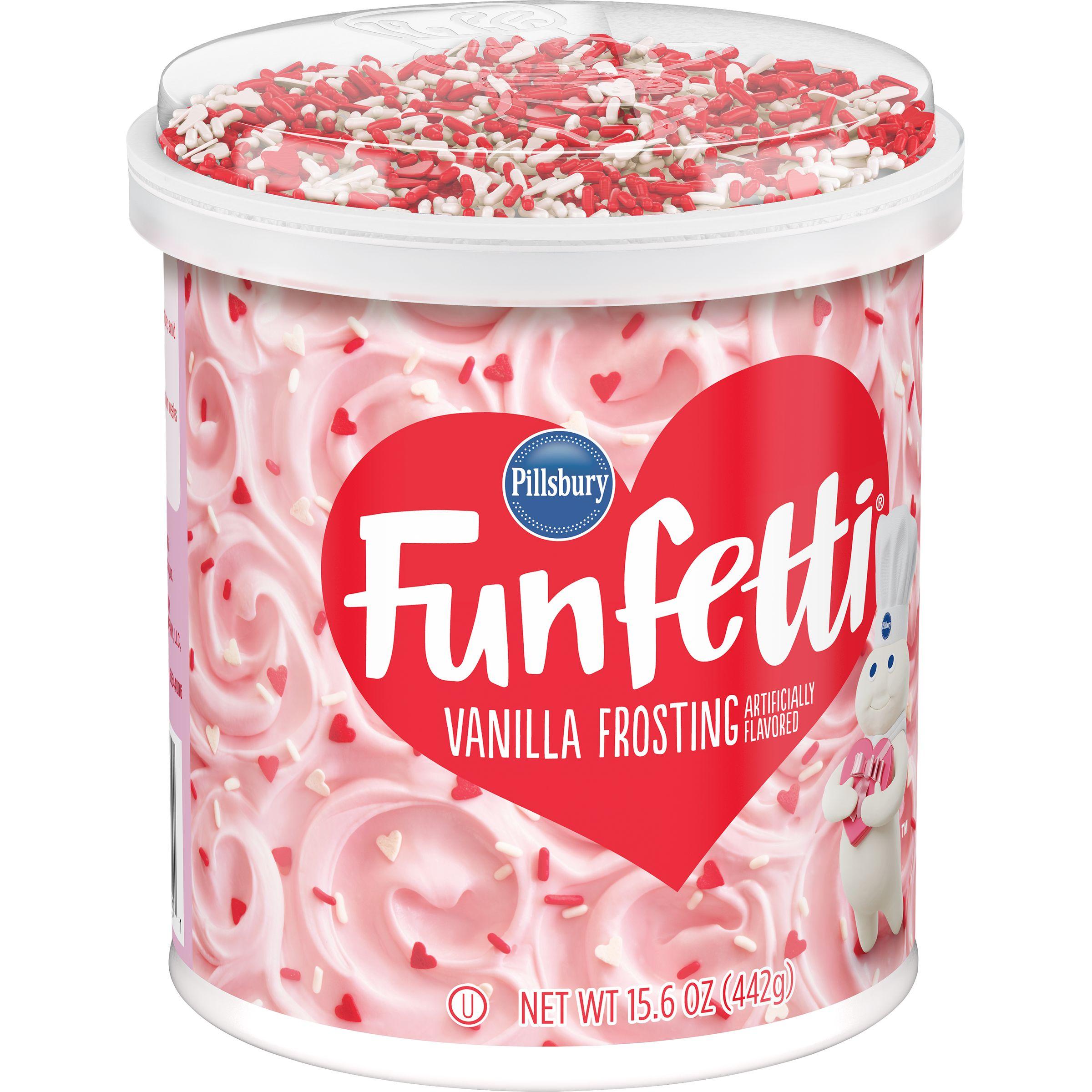 (2 Pack) Pillsbury Funfetti Valentine's Frosting, 15.6-Ounce