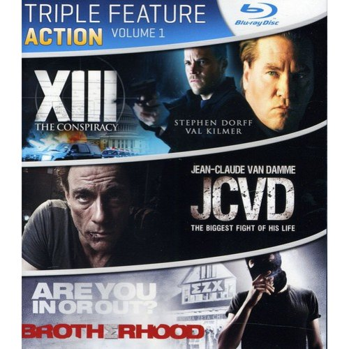 Action Triple Feature: Volume 1 - XIII: The Conspiracy / JCVD / Brotherhood (Blu-ray)