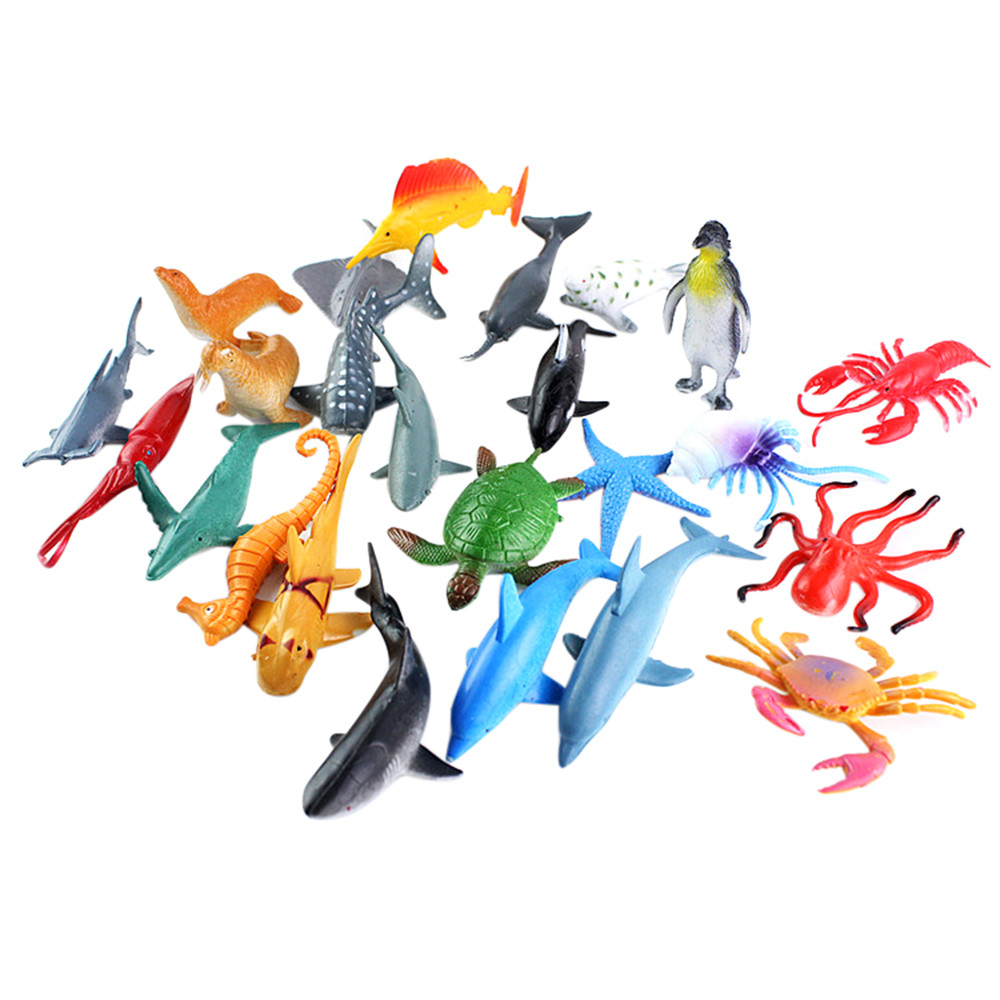 Mosunx A Set Simulation Plastic Ocean Animals Sea Creatures Model Educative Toys