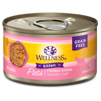 Wellness Complete Health Natural Grain Free Wet Canned Kitten Food, Kitten Chicken, 3-Ounce Can (Pack of 24)