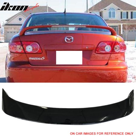 Fits 03-08 Mazda 6 Sedan 4Dr OE Factory Style Trunk Spoiler Painted #UA Black (Mazda 6 Sports Sedan)