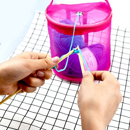 New Mesh Bag Lightweight Portable Yarn Crochet Thread Storage Organizer - Craft Totes