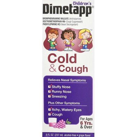 Dimetapp Children's Cold & Cough Liquid-Grape-8