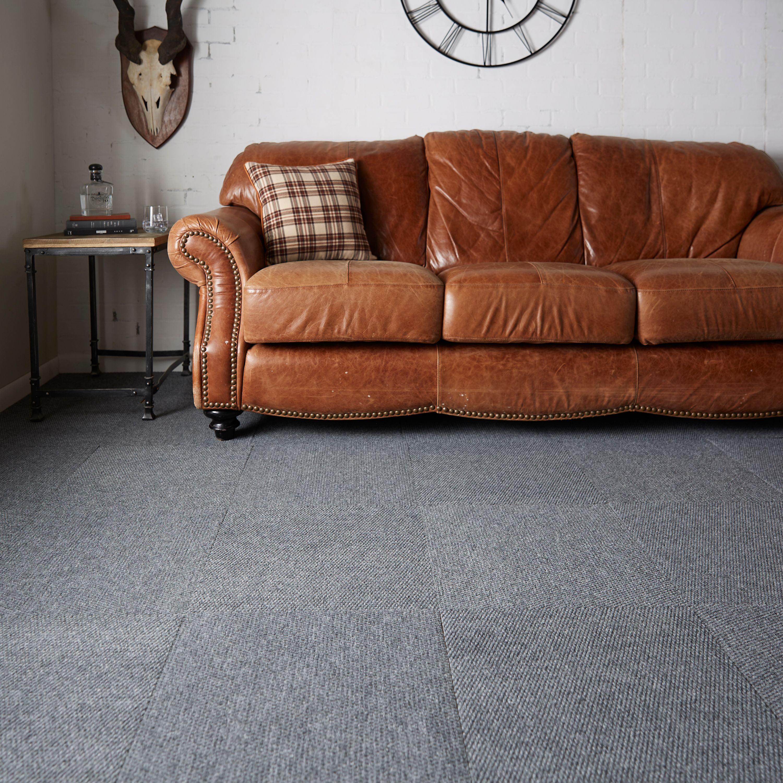 Mohawk Home L Stick Polyester Carpet Tiles 16 36 Sq Ft