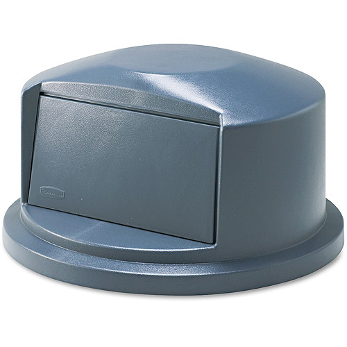 Rubbermaid Commercial Brute Dome Top Swing Door Lid For Plastic Gray Waste Container, 32 gal