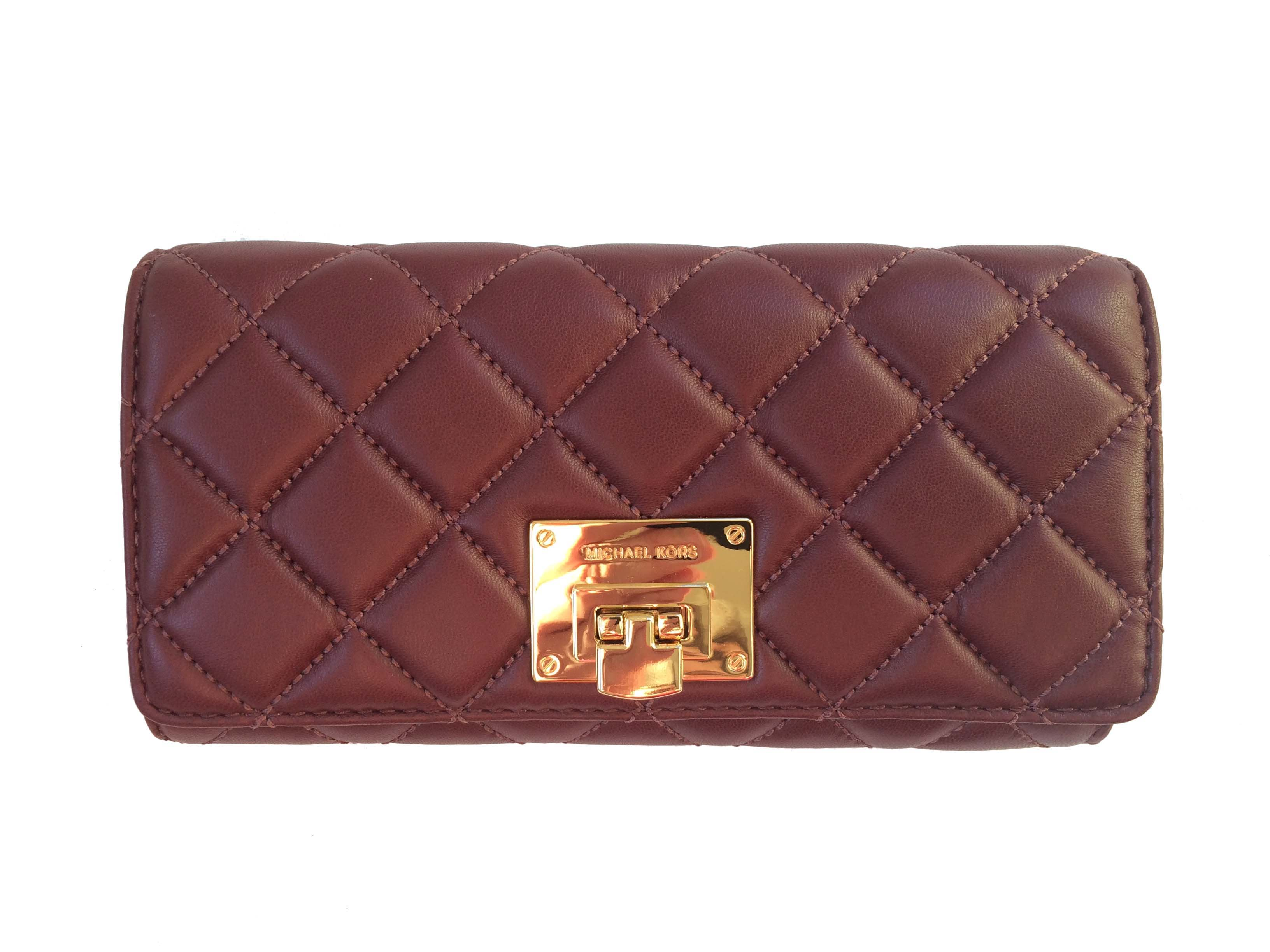 0194481d7c1934 Michael Kors - Michael Kors Astrid Leather Carryall Wallet (Merlot) -  Walmart.com