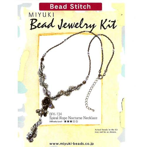 Create Your Own Miyuki Spiral Rope Nocturne Necklace Beading Kit
