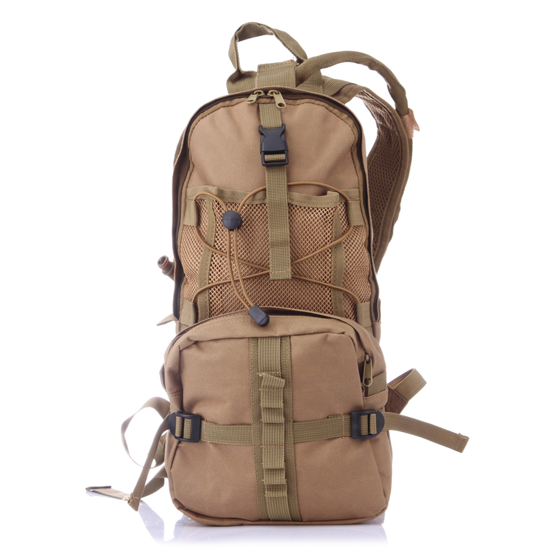 Outdoor Sports Hydration Backpacks with 2.5L Bladder for Hiking, Biking, Running Color:Khaki
