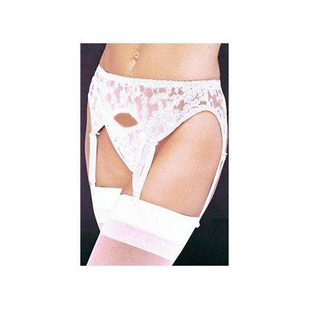 Leg Avenue White Lace Garter Belt and Thong 8888QLEG W White