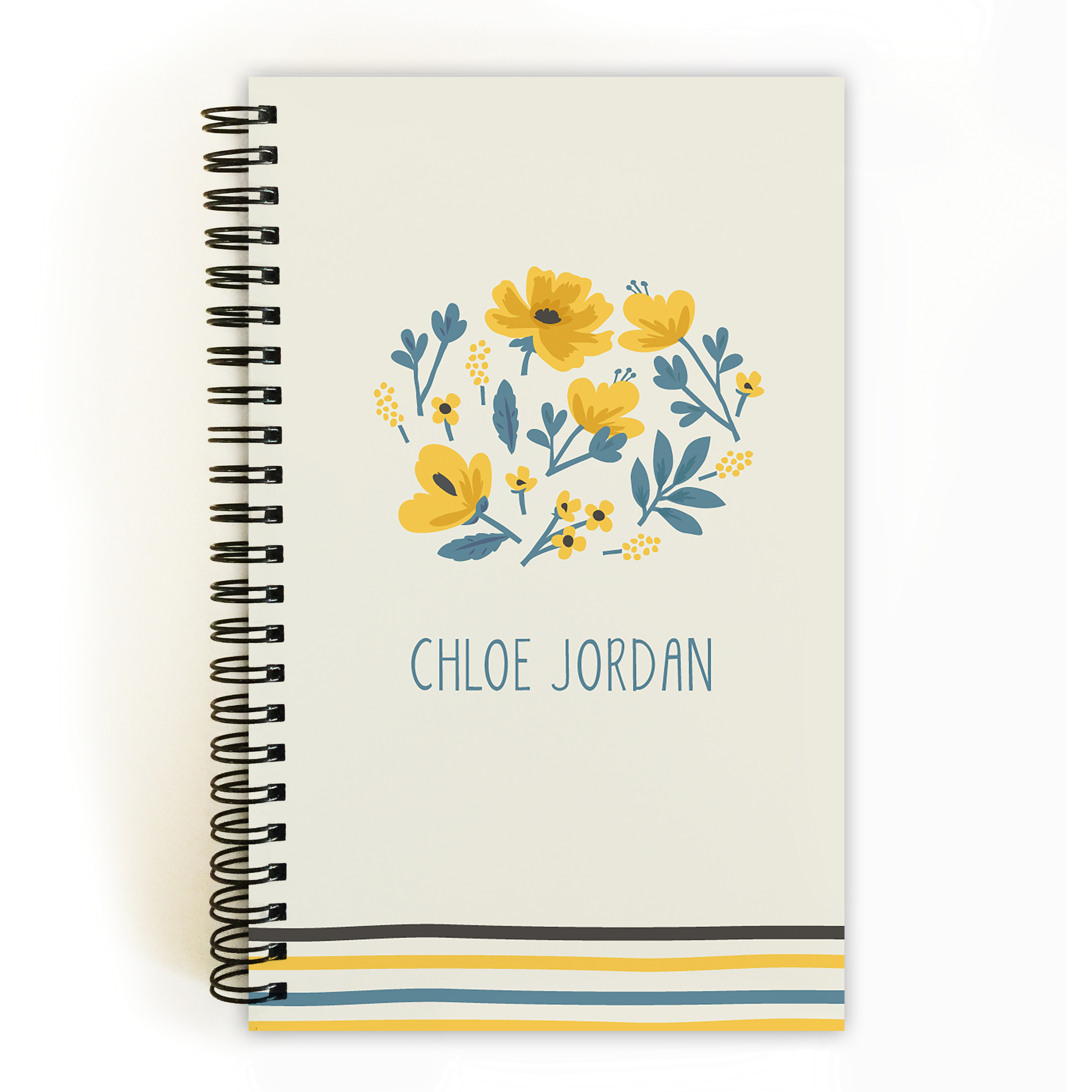 Thankful Florist - Personalized 5 x 8 Notebook