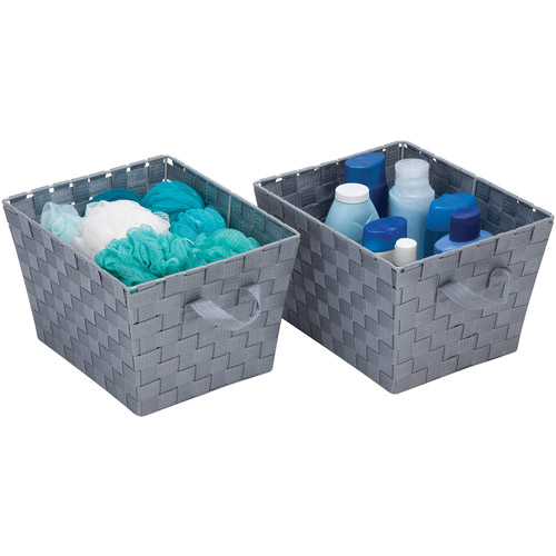 Honey Can Do Woven Storage Baskets, Gray (Pack of 2)