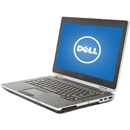 Refurbished Dell 14  E6420 Laptop PC with Intel Core i5-2520M Processor, 8GB Memory, 750GB Hard Drive and Windows 10 Pro Refurbished Dell 14  E6420 Laptop PC: Key Features and Benefits: Intel Core i5-2520M processor2.50GHz8GB DDR3 SDRAM system memoryGives you the power to handle most power-hungry applications and tons of multimedia work750GB SATA hard driveStore 500,000 photos, 214,000 songs or 395 hours of HD video and moreDVD-ROM driveWatch movies and read CDs and DVDs in multiple formats10/100/1000Mbps Gigabit Ethernet, 802.11b/g/n Wireless LANConnect to a broadband modem with wired Ethernet or wirelessly connect to a WiFi signal or hotspot with the 802.11b/g/n connection built into your PC14  720p HD anti-glare LED-backlit displayIntel HD GraphicsAdditional Features:3 x USB 2.0 ports, 1 x FireWire (1394) port, 1 x audio-out jack, 1 x microphone jack, 1 x RJ-45 Ethernet port, 1 x VGA portStandard lithium-ion battery, up to 30 min battery life4.56 lbs, 13.8  x 9.5  x 1.06 Software: Genuine Microsoft Windows 10 Pro 64-Bit EditionBackup and Restore options built into Windows allow you to create safety copies of your most important personal files, so you're always prepared for the worstSupport and Warranty: Refurbished items have a 90 days parts and labor limited warrantyRecovery partition on Hard DriveWhat's In The Box: Power cord and AC adapterStandard lithium-ion batteryQuick Start GuideTo see the manufacturer's specifications for this product, click here. To see a list of our PC Accessories, click here. Trade in your used computer and electronics for more cash to spend at Walmart. Good for your wallet and the environment - click here.
