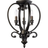 Pendants 3 Light With Oiled Bronze Finish Candelabra Base Bulbs 13 inch 180 Watts