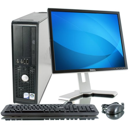 "REFURBISHED: Optiplex GX745 Small Form Factor - 80GB HDD, 2GB Ram, DVD-Rom, 17"" LCD Monitor, Windows 7 Professional"