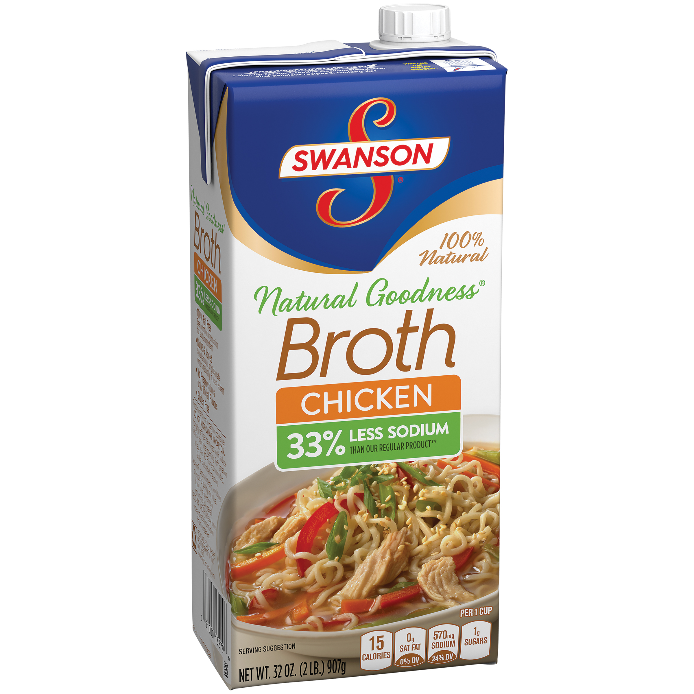 Swanson 100% Natural Natural Goodness Chicken Broth 32oz