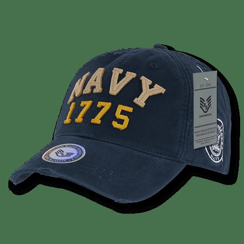 US Navy, Vintage Athletic Caps Hats, Navy