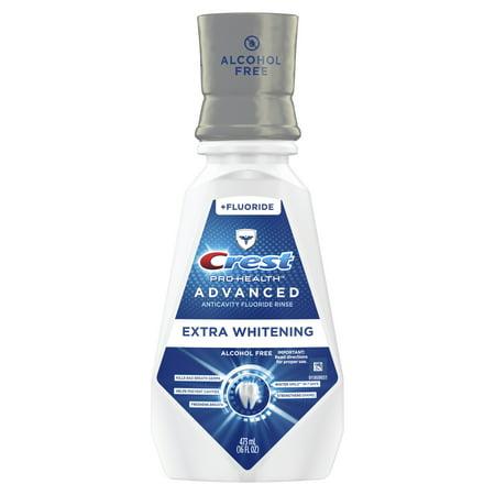 Crest Pro-Health Advanced Mouthwash, Alcohol Free, Extra Whitening, Energizing Mint Flavor, 473 mL (16 fl