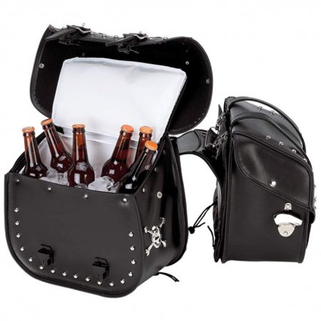 Beer Bags 4pc Studded Motorcycle Saddlebag Cooler (Bear Chess Set)