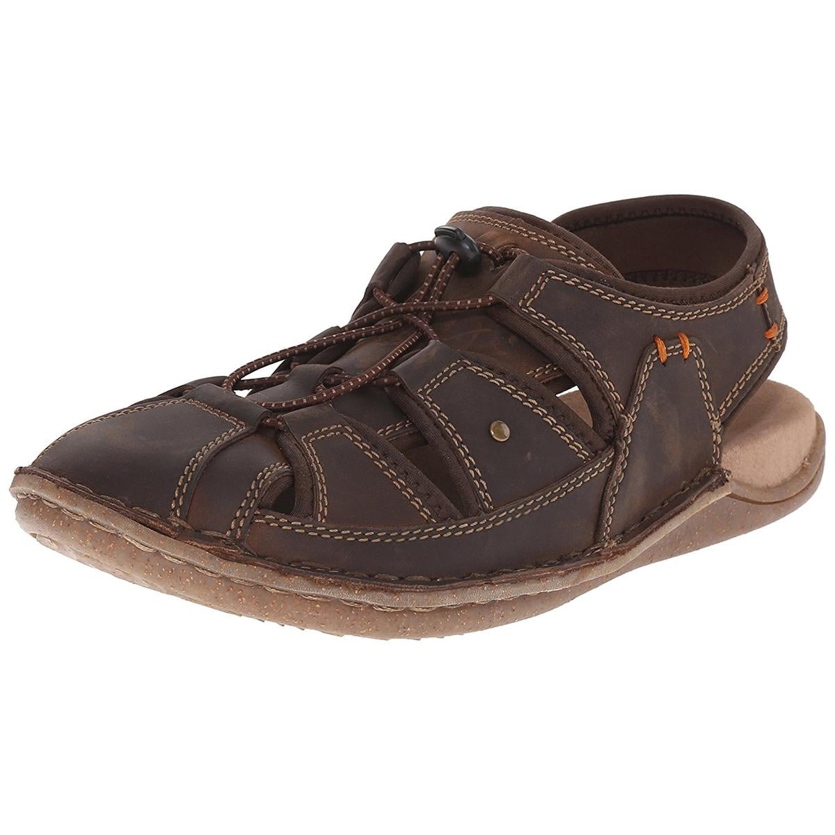 Hush Puppies Bergen Grady Mens Brown Waxy Leat Sandals by Hush Puppies