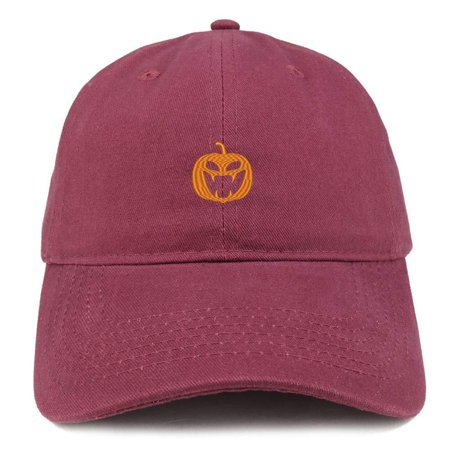 Trendy Apparel Shop Jack O Lantern Pumpkin Embroidered Brushed Cotton Dad Hat - Digital Green CAMO