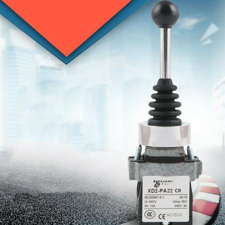 Dual Directions Spring Return Switch Monolever Auto Reset Joystick 2 Switch Positions AC 600V - image 6 de 6